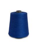 Flaxen Europe 100% Linen Yarn Cone - 2.700 metres - 12x12x16 cm - 0,5 KG (1 LBS) - Twisted from 3 PLY - Blue - Pure Flax Thread For Hand and Machine Sewing, Weaving, Crochet, Embroidering