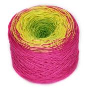 Rellana Rainbow, Bobbel, Colour 21 lollipop, Quadruple gefachtes Yarn for Crochet and Knit, 200 Grammes Wad approx. 800 M LL, great Colour gradient