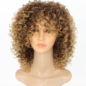 Women's Fashion Long Light Blonde Curly Cosplay Wig With Cap Heat Resistance