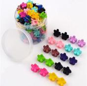 20pcs Girls Mini Hair Claw Clip Clamp Hair Pin Hair Bangs Hair Barrettes for Little Girls Kids Toddlers Hair Accessories Mix Coloured