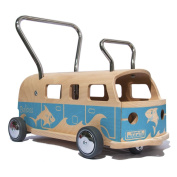 Wooden Walker + Ride-on toy ALOHA, Violet, Made in Italy