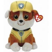 TY Licenced Beanie Buddy Approx 23cm - Paw Patrol - RUBBLE , Perfect Plush!