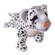 te-trend Soft Toy Leopard White Spotted Large Cat Lying Creeping Plush Fur Decoration 60cm