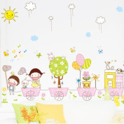Living Room Bedroom Wall Sticker Mural Creative Cartoon Children's Stickers Can Be Removed