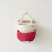 Madaye Hanging bag cotton single pocket hanging pouch home bathroom kitchen hanging bag Size
