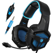 Gaming Headset, SADES 807 for PS4 New Xbox One Gaming Headphone Over Ear 3.5mm Plug Wired with Mic Volume Control for PC/Laptop/Mac/Phone