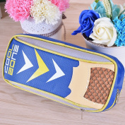 Korean pencil case / canvas three-layer stationery bag / cute simple creative pencil bag / male large capacity pencil case