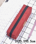 Pure colour pencil case / student stationery / large capacity storage bag / simple art pencil bag