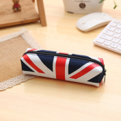 Creative cute flag wind large capacity pencil case stationery bag pencil bag durable storage bag student stationery bag