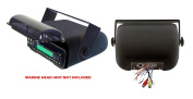 Pyle PLMRCB3 Universal Marine Stereo Housing with Full Wired Casing, Black
