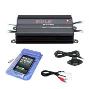 Pyle Plmrmb4cw Hydra Series 200 watt Marine Amp Kit With Bluetooth 4 Channels