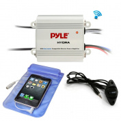 Pyle / Pyle-Pro - PLMRMB2CW - Pyle(R) PLMRMB2CW Hydra Series 200-Watt Marine Amp Kit with Bluetooth(R)