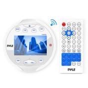 Pyle Waterproof Bluetooth Marine Digital Media Receiver with Video Inputs, White