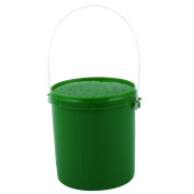 Plastic Cylinder Shaped Fishing Tackle Lure Bait Tool Storage Case Box Green