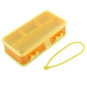 Unique Bargains Transparent Plastic Double-sided Lure Bait Hooks Tackle Storage Box