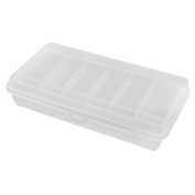 Plastic Double Layer Fishing Lure Bait Tool Case Storage Container Box Clear