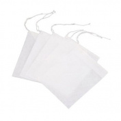 7x9cm Disposable Empty Tea Filter Bags Drawstring Seal Filter,Pack of 100