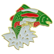 Jumping Trout Pin 2.5cm