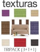 Promopack 3 + 1 + 1 Trio Sofa Covers Elastic Rustika Basic Home by Textures
