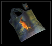 Hare Fold Away Shopping Bag in a Bag - Countryside Image on reusable tote