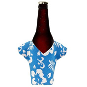 TtS 12pcs Xmas Novelty (Blue) Beer Bottle Cover With Flowers Pattern Holder Cover Table Decoration