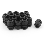 sourcingmap 16pcs PG11 Waterproof Cable Glands Connector for 5-10 mm Dia Wire