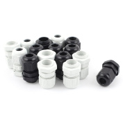 sourcingmap 16 Pcs PG9 Waterproof Cable Glands Connector for 4-8 mm Dia Wire