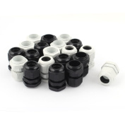 sourcingmap 20pcs PG16 Waterproof Cable Glands Connector for 10-14mm Dia Wire
