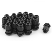 sourcingmap 22pcs PG7 Waterproof Cable Glands Connector for 3-6.5 mm Dia Wire