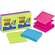 3M Post-It Super Sticky Notes 7.6cm x 7.6cm 90 Sheets 6/Pkg-Assorted Ultra Neon Colours