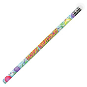 PENCILS HAPPY BIRTHDAY GLITZ 12/PK
