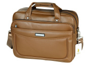VIDENG POLO Extended 40cm Leather Briefcase Laptop Bags Business Messenger Bag Mens Handbag
