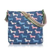 Sausage Dachshand Dog Print Crossbody Bag