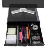 Mind Reader ' Perch' PC, Laptop, IMAC Monitor Stand and Desk Organiser, Black