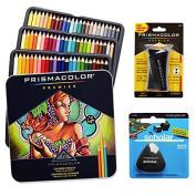 Prismacolor Coloured Pencils Box Of 72 Assorted Colours Triangular Scholar Pencil Eraser And Premier Pencil Sharpener