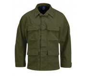Propper BDU 4-Pocket Coat, 100% Cotton Ripstop, Extra Large - Long, Olive Green