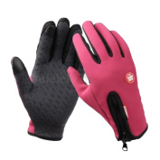 Pink M Warm Sports Cycling Camping Hiking Touch Screen Windproof Fleece Gloves~~