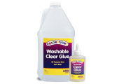 Colorations Washable Clear Glue, Gallon