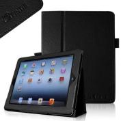 Fintie Premium PU Leather Folio Case Cover with Auto Wake/ Sleep Feature For iPad 2/3/4 Generation, Black
