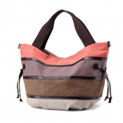 LOSMILE Women's Canvas Handbags Shoulder Bag Top-Handle Tote Casual Beach Bags Cross-body Shopping Bag.