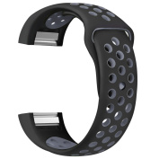 Watchband, YuStar New Replacment Hole Design Breathable Silicone Smart Watch Band Strap For Fitbit Charge 2 Sport Bracelet
