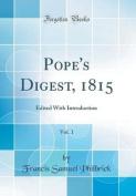 Pope's Digest, 1815, Vol. 1