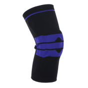 Sports Knee Compression Sleeve Support for Running, Hiking, Training, Basketball, Knee Brace Anti Slip Pain Relief for Meniscus, Joint Pain Relief, Arthritis and Injury Recovery, Unisex - Single Wrap