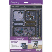 Hunkydory Flight Of The Butterflies Jewelled A4 Topper Set-Sapphire Moments