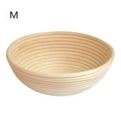 Handmade Natural Rattan Round Basket Bread Fermentation Basket Storage Bread Proofing Bowl Size M