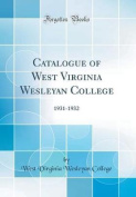 Catalogue of West Virginia Wesleyan College