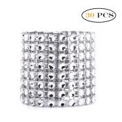YiZYiF 10pcs/30pcs Napkin Rings Silver/Golden Decorations Christmas Ornaments Silver 30 Pcs