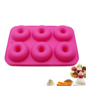 Selecto Bake - 6 Cavity Silicone Donuts Mould Chocolate Muffin Pink