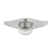 Café Ole The Stal Winged Mesh Tea Infuser Strainer with Drip Bowl, Stainless Steel