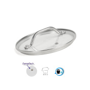 Glass lid lid Saucepan lid Ø lid 16 cm - Quality Material Mix Stainless/Glas